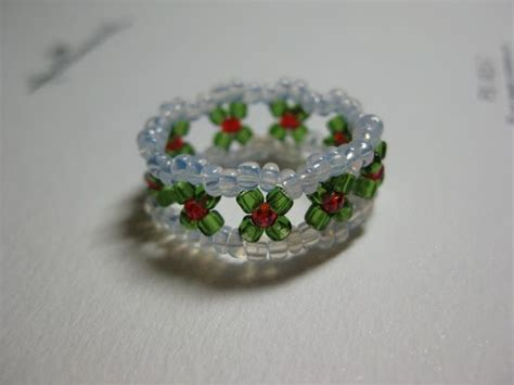 my daily bead how to make a christmas ring
