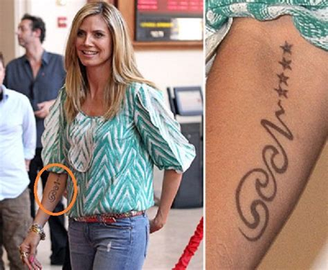heidi klum tattoo removed heidi klum s it s meaning guru