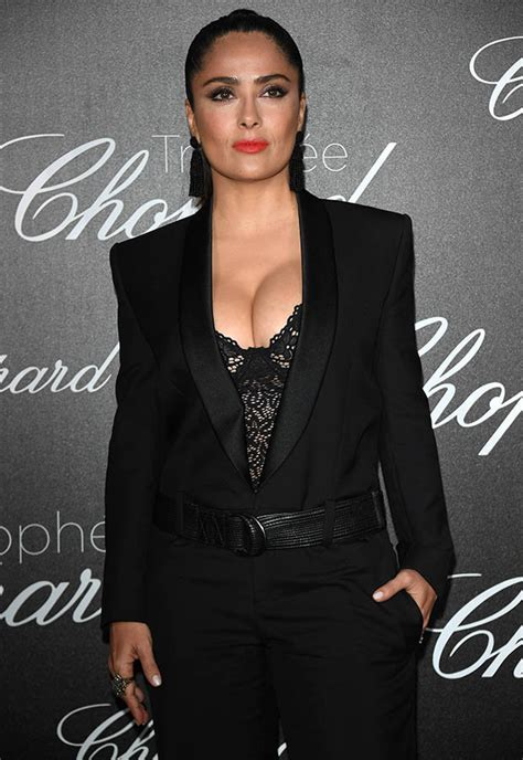 Salma Blezer cannes cleavage as salma hayek erupts from see
