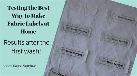 an update for testing the best way to make fabric labels at home easy sewing for beginners