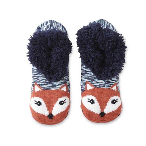 sox slippers joe boxer s slipper socks fox