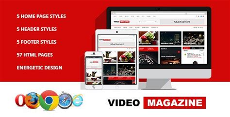 video magazine html magazine template free download