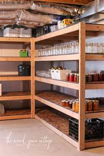 regale keller diy basement shelving the wood grain cottage