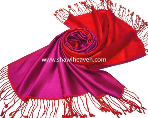 buy two color satin reversible silk scarves from