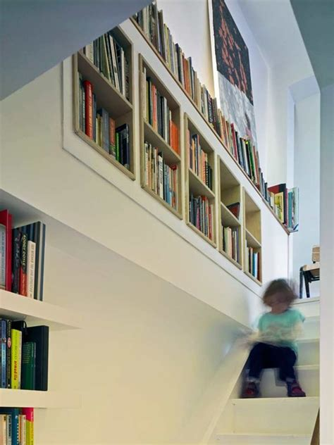 staircase bookshelves