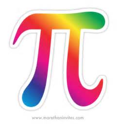 Rainbow colored colorful pi symbol stickers for math geeks 01
