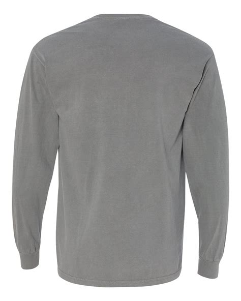 comfort colors long sleeve t shirts comfort colors garment dyed ringspun long sleeve pocket