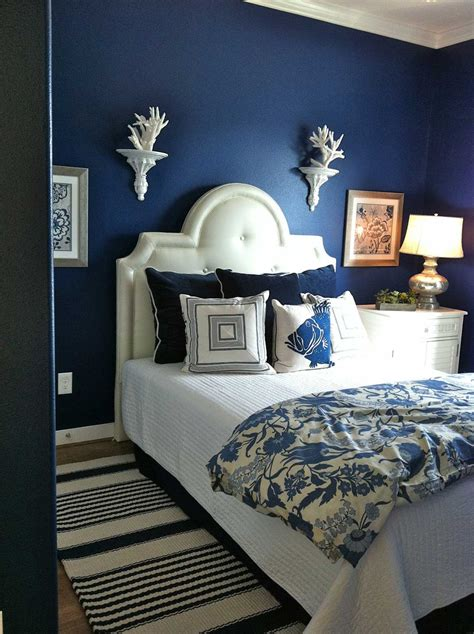 blue walls in bedroom dark blue bedroom walls decosee com