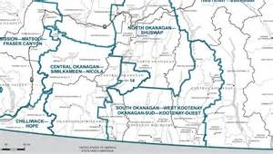 map of southern bc canada mp atamanenko disappointed as new boundaries finalized