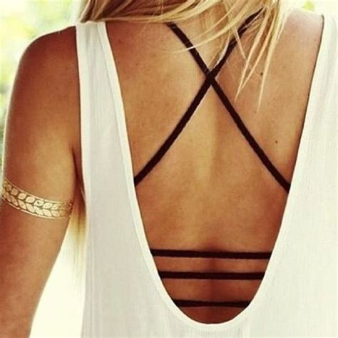 tattoo back bralette strappy bralette mentallic tattoo down to the details