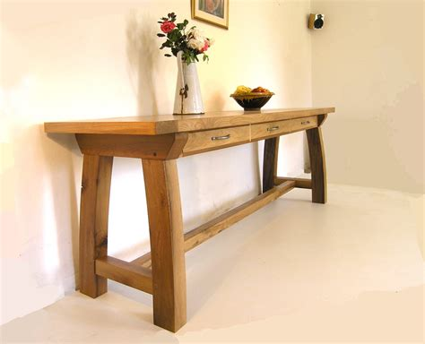 oak console table bespoke console tables contemporary oak hallway table by