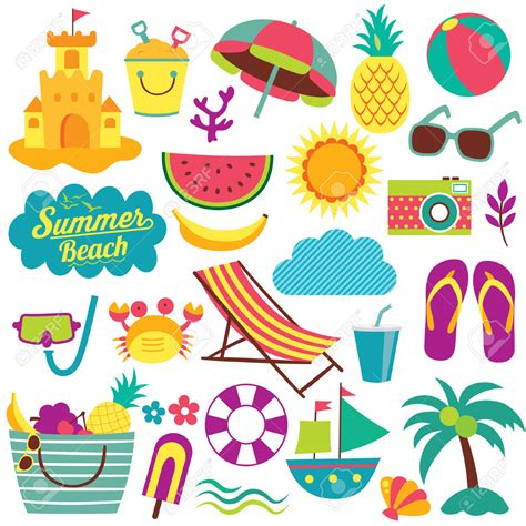 summer themed pictures clipart summer clipart a day at the beach