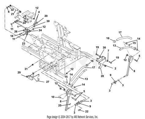 gravely   pmm hp kohler  deck parts diagram  steering levers