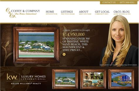 12 real estate websites with striking home page designs