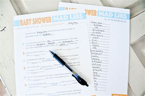 Mad Libs Baby Shower Printable by Free Printable Baby Shower Mad Libs Project Nursery