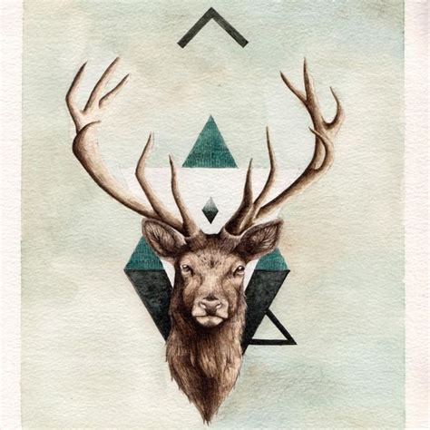 stag head designs stag tattoo idea tattoos pinterest the two owl and