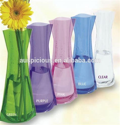 pas cher plastique transparent pvc vases pour fleurs