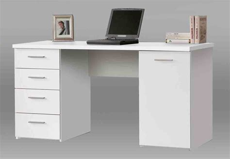 White Computer Desk With Drawers Pulton Large White Writing Desk With Drawers By Furniturefactor