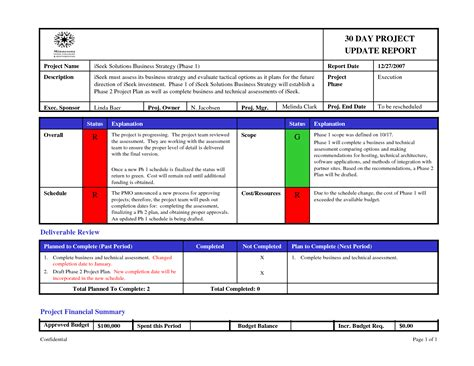 project update report template powerpoint project status report template success ymxkxp