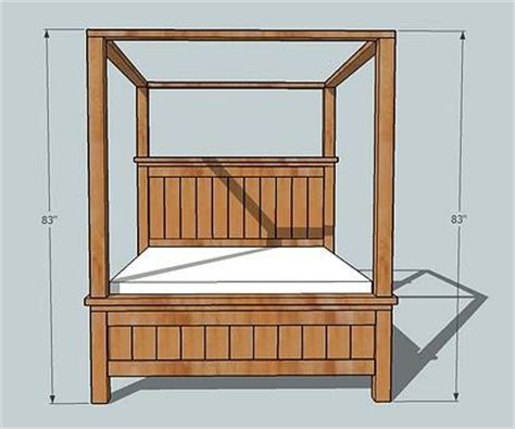 canopy bed plans ana white farmhouse bed canopy diy projects