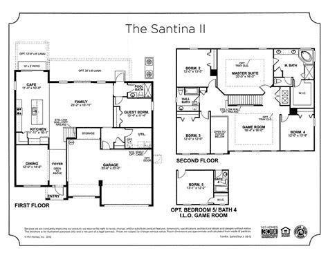 florida floor plans for new homes santina ii floor plan