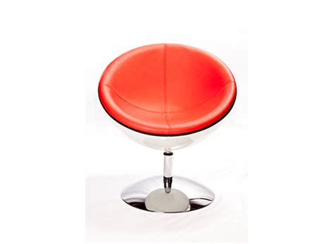 red swivel armchair thelounge swivel lunar red armchair