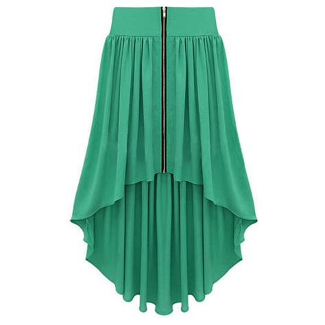 green skirt bqueen asymmetrical maxi skirt green ustrendy