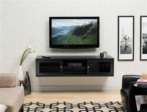 Hanging Tv Cabinet by Flat Screen Tv And Fireplace In Living Room Ideas Wall