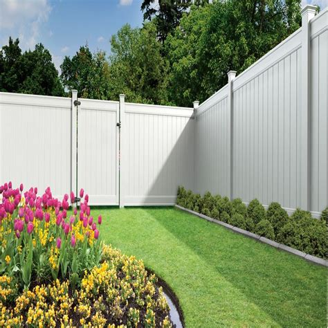 12 Foot Vinyl Gate by Freedom Ready To Assemble Emblem White Vinyl Privacy Fence