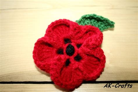 free pattern for knitted poppies how to crochet a poppy flower the art of craft