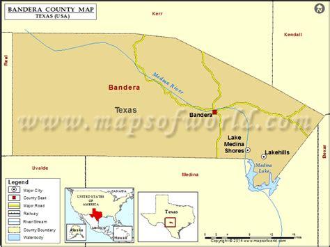 bandera texas map bandera county map map of bandera county texas