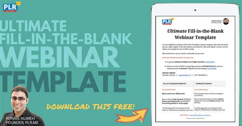 Free Webinar Template Download 12 Ingredients To A 245 540 74 Webinar Plr Me Blog Sales Webinar Template