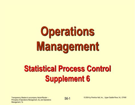 supplement 6 operations management ppt operations management statistical process