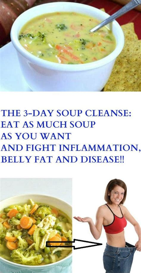 3 Day Soup Detox Plan by The 3 Day Soup Cleanse Eat As Much Soup As You Want And