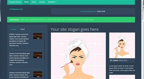 bootstrap themes blog free bootstrap template woman blogs free html