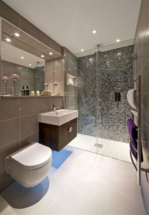 ensuite bathroom tiles ensuite shower room with mosaic feature wall wall hung wc
