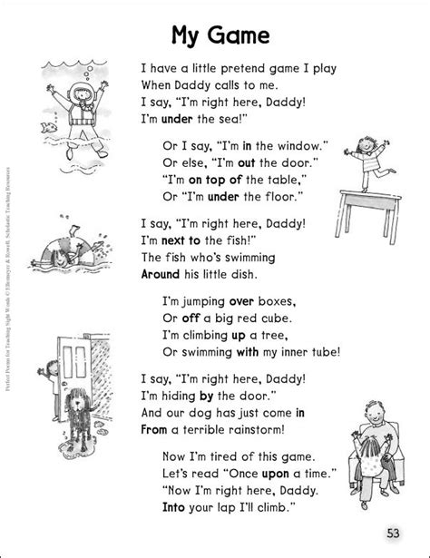 A Place Story Prepositions Of Place You Can Your Own Story Or Even Poem Using Prepositions Of Place By