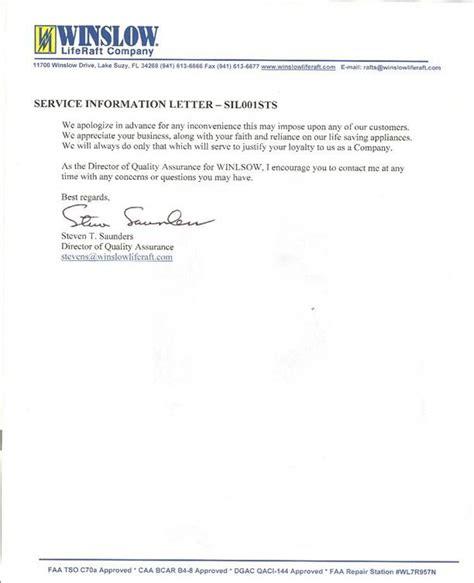 Faa Service Letter Definition 3 26 03