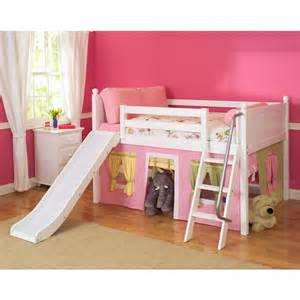 loft bed with slide fantastic sized low loft bed with angle ladder slide