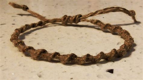 Macrame Knots Hemp - retro macrame spiral hemp bracelet with adjustable tie