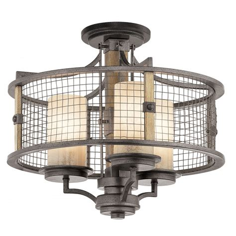 Rustic Ceiling Lighting Rustic Ceiling Light With Dual Mount Use With Or Without Chain