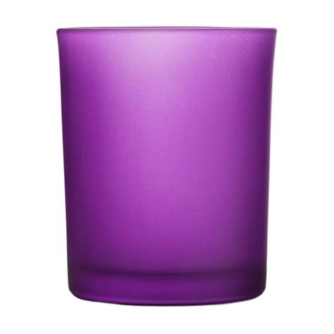 frosted purple glass votive cup