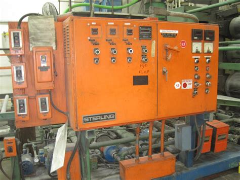 Blackmaster Arl Dc Size 39 45 54 quot wide sterling sheet line with 4 5 quot single extruder plastic machinery used plastic