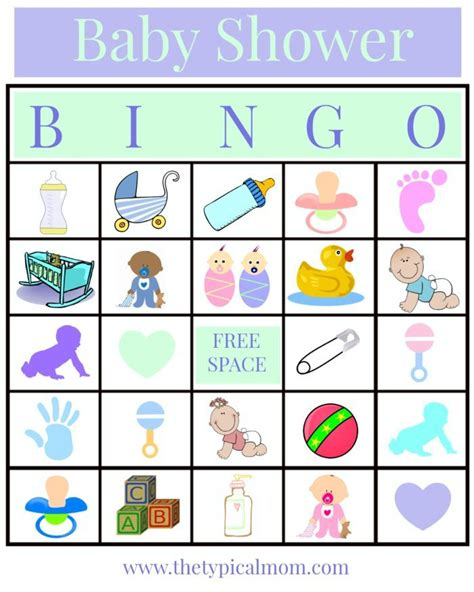 How Do You Play Baby Shower Bingo by Baby Shower Bingo 183 The Typical