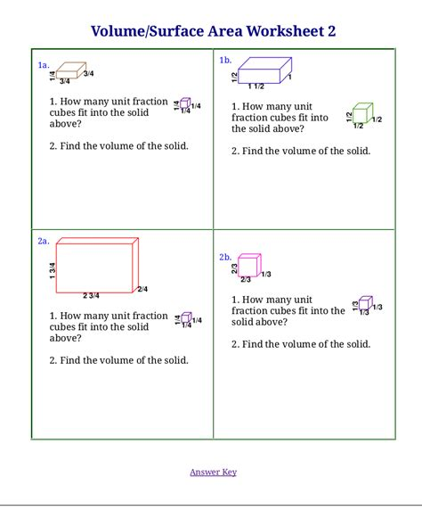 word printable area error volume word problems worksheets worksheets releaseboard