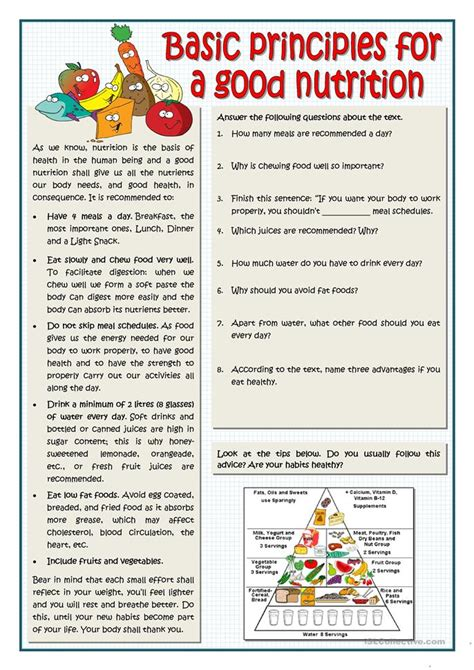 Nutrients Worksheets Activities by Nutrition Worksheets High School