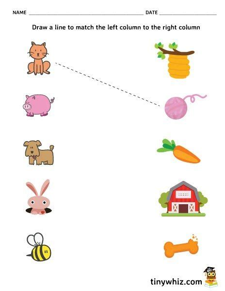 free printable matching worksheets for preschool free printable matching worksheet for preschool tiny whiz