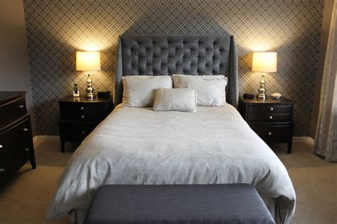 grey master bedroom contemporary bedroom ottawa by