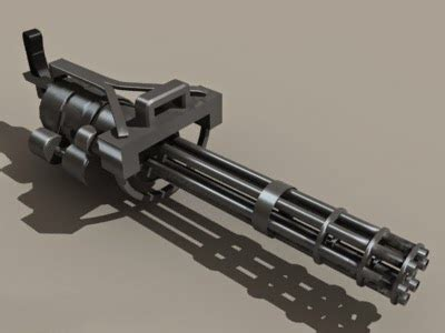 Predator M134 Minigun 3d model Autodesk FBX,Object files