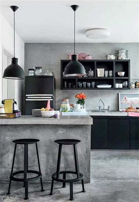 come fondere cemento acciaio e legno per una cucina
